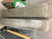 10 grey concrete edging slabs