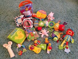 Bundle of first toys for baby