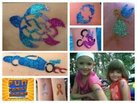 GLITTER TATTOOS - Waterproof - now booking special events!