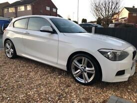 BMW 1 Series 120D 2013 White Red Leather