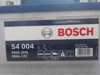 Flat Bosch car battery S4 004 60Ah 540A 12v