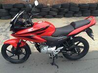 For sale honda cbf125 cc red color 5400 miles clean bike