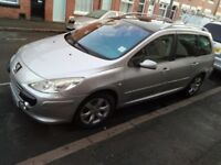Peugeot 307,1.6 HDI,7 seats,SILVER,MOTSep19,Reg 08,History services,NO Passat BMW Audi Vouxhall Ford