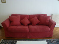 Sofa Bed from Sofa Workshop - red fabric