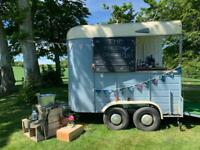 Mobile bar catering food converted Sinclair horse box trailer