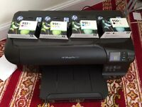 HP OfficeJet Pro 8100 Printer No Box with full set Genuine Cartridges £80 Collection Only