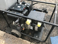 silent 6.5 Kva diesel generator 240v / 110v key start with battery - Fully work good for export