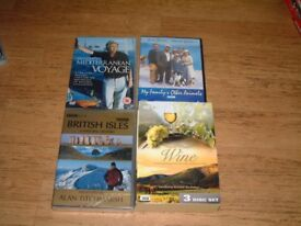 Travel & Wine dvd's, British Iles, Mediterranean Voyage, etc