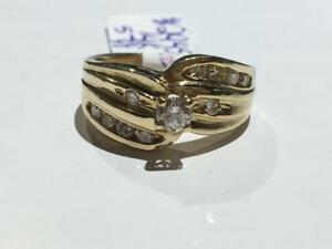 #2945 14K BEAUTIFUL LADIES DIAMOND ENGAGEMENT RING *SIZE 5 7/8* JUST BACK FROM APPRAISAL AT $2550.00 SELLING FOR $850.00