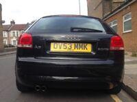 Audi A3 FSI 2L petrol 53 plate BLACK