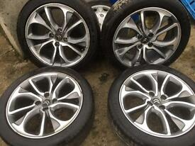 """BERLINGO PARTNER ALLOYS 18"""" OF A 2014 DS3 COME COMPLETE WITH WHEEL NUTS TO SUIT FIT £320"""