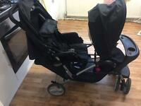 Graco double tandem pushchair
