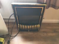 Black electric fire & marble surround