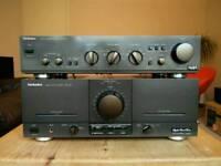 Technics Power amplifier SE-M100 and Preamplifier Technics SU-A40