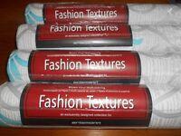 4 New rolls of Blown Vinyl Wallpaper - Fashion Textures by Ericsmann