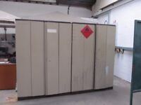 Pair of Metal Storage Cupboards with Folding Doors