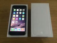APPLE IPHONE 6 64GB SPACE GREY,UNLOCKED TO 02/TESCO AND GIFF GAFF,MINT CONDITION COMES BOXED