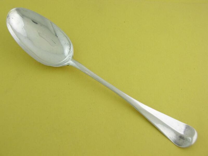 """Early Coin Silver 7 3/4"""" Spoon BENJAMIN BURT Boston MA c1750-1805"""