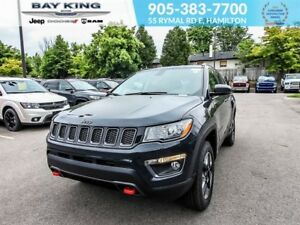 2018 Jeep Compass TRAILHAWK, 4X4, GPS NAV, REMOTE START, BACKUP