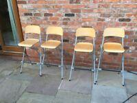 Set of 4 IKEA Folding Barstools