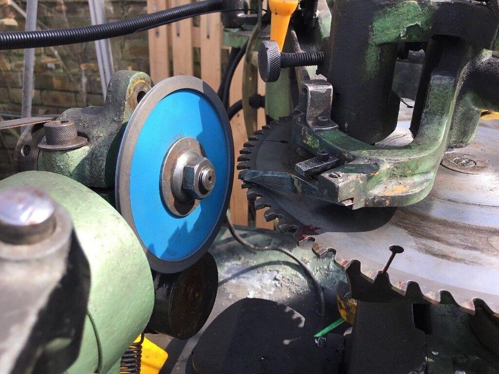 Sharpening Makita,dewalt,wadkin chop saw blade grinding