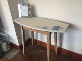 Retro Side Table with origami Elephants