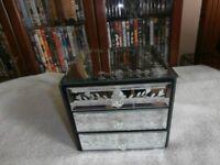 decorative glass jewellery box