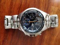 Mens Seiko Alarm Chronograph Watch