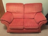 Free two seater fabric sofa