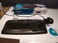 Logitech EX110 Wireless Keyboard & Mouse Set