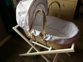 Mamas and papas Moses basket and stand