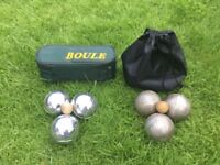 2 sets of French boules- pétanque (price is for both sets)