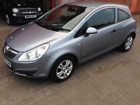 2008 Corsa 1.2 Breeze 16v Silver History Lady Owned 7 years 12MOT Air-Con CD 3 Door HPi Clear £1595