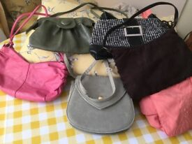Selection of 8 bags One leather £2 each most new