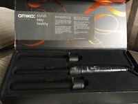 Amika ebony 3p triple barrel curler set