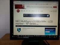 NEC MultiSync LCD195VXM - LCD monitor - 19.5 inches
