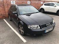 Audi A4 1.9 diesel estate, black 2003, full service history 5months MOT 222k miles