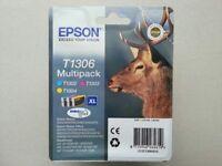 New & Sealed Genuine EPSON T1306 Multipack XL Ink Cartridge - Durabrite Ultra Ink