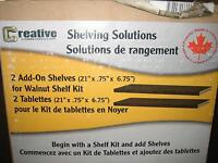 Creative Shelving 2 Add on Shelves