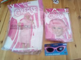 Original grease Frenchy fancy dress outfit and wig size 8-10