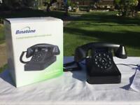 NOSTALGIC DESIGN. CLASSIC RETRO. BINATONE CORDED TELEPHONE. VERY NICE LOOKING OLD STYLE PHONE