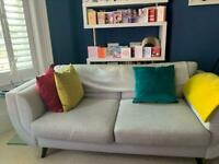 Designer sofa and statement chair