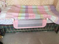 Single bed with trundle including mattresses