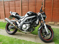 Suzuki SV650 Naked/Streetfighter 2005 Black Very Good Condition Long M.O.T
