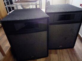 1 Pair Peavey Pro 15 P.A.Speakers.
