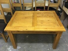Dining room solid oak table (extendable)