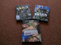 Skins Complete First, Second and Third Series DVDs