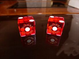 Pair of dice from Las Vegas - Mirage Casino - 20 years old.