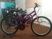APOLLO OUTRIDER 26 INCH WHEEL PURPLE/PINK 15 SPEED GOOD CONDITION