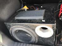 Vibe sub with built in amp and wiring kit